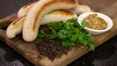Sausage with peppercorns and cilantro